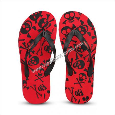 Freetoes Skull Red Flip Flops