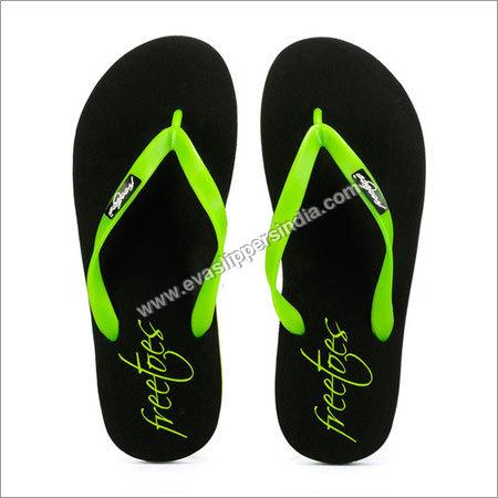 Freetoes Black Lime Flip Flops