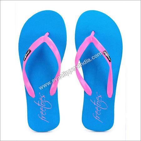 Basic Blue Flip Flops