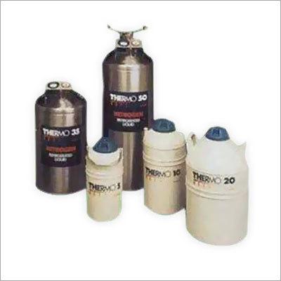Cryocan Of Liquid Nitrogen