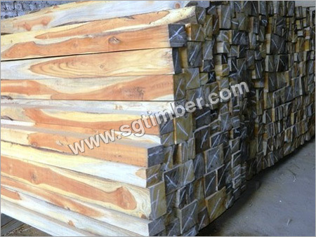 Square Teak Wood Log