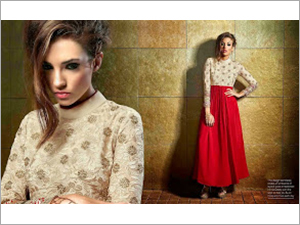 Georgette Embroidery Kurtis