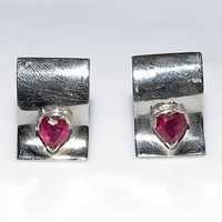 Ruby Gemstone Men Cufflinks
