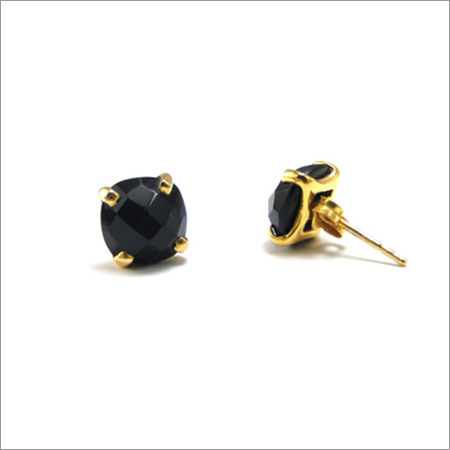 Black onyx Gemstone  Studs