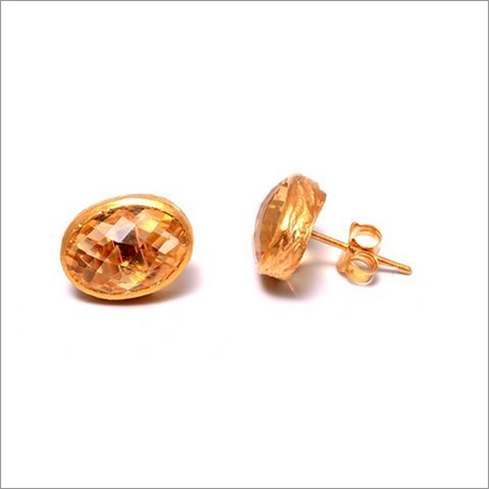 Citrine Gemstone  Studs