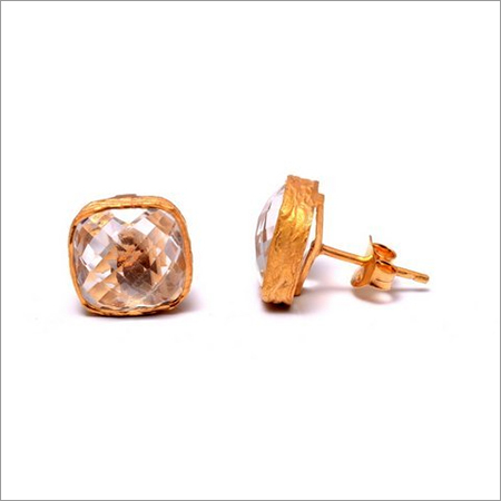 Crystal Gemstone  Stud