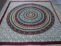 PRINTED ROUND ELEPHANT TAPESTRY FROM INDIA