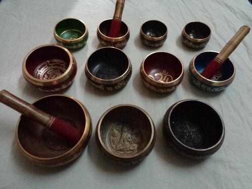 Brass Singing Bowls With Sticks