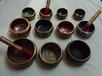 BRASS SINGING BOWLS WITH STICKS