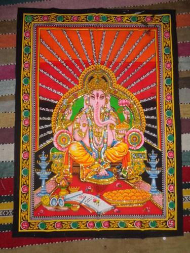 HINDU GODS PRINTED WALL TAPESTRY FROM INDIA