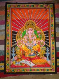 HINDU GODS PRINTED WALL TAPESTRY FROM INDIA