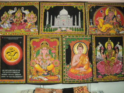 INDIAN GODS PRINTED WALL HANGINGS WHOLESALE