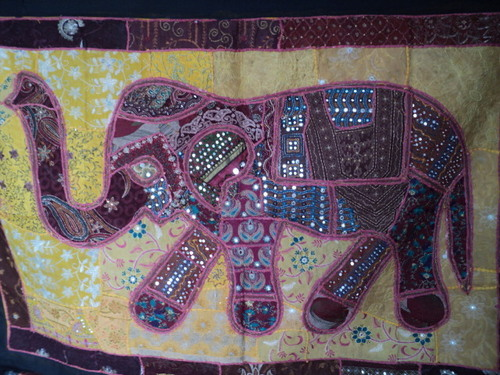 PATCHWORK ELEPHANT WALL HANGINGS