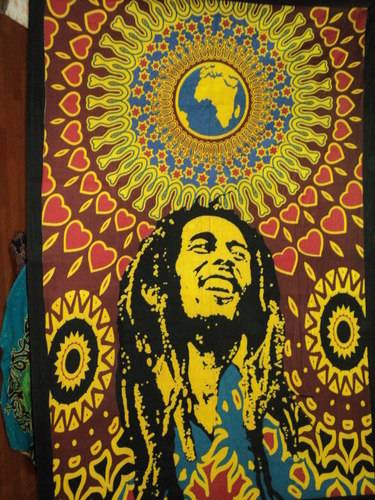 RASTA BOB MARLEY SINGLE BEDSHEETS