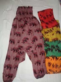 COTTON PRINTED ALADIN HAREM PANTS 100 PCS