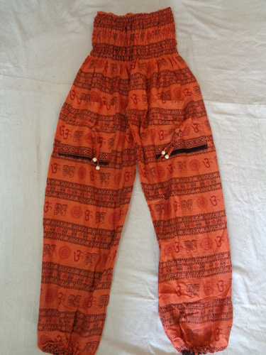 COTTON PRINTED HAREM PANTS NEW