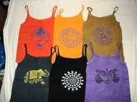 INDIAN GODS PRINTED TANK T-SHIRTS FOR GIRLS