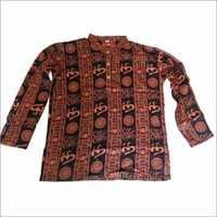 Cotton Shirts From India Om Printed 100 Pcs Lot