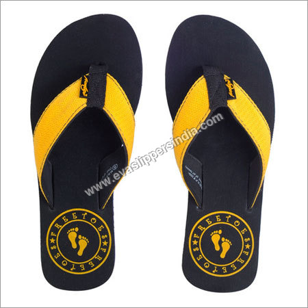 Unique Black Yellow Flip Flops