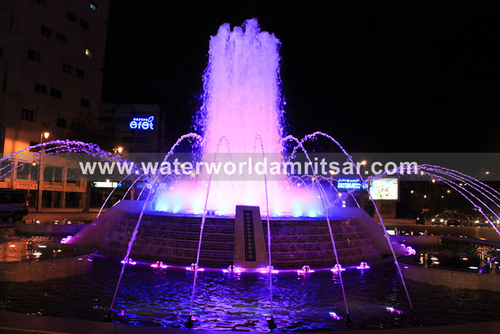 Flash Light Outdoor Water Fountains