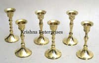 Brass Set Of 6 Candle Stand