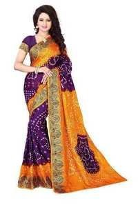 Exclusive Cotton Silk Bandhni Saree