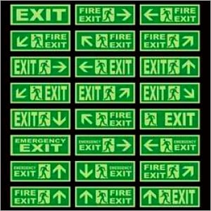 Exit Glow Sign Boards