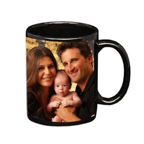 Mug with white Patch (Black, Red & Blue)DS-164