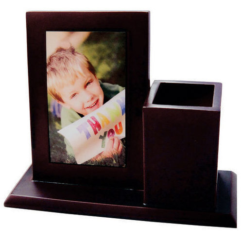 wooden photo frame with pen standDS-