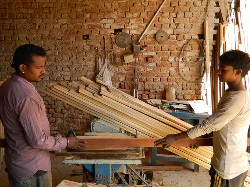 Long Thin Wood Margins