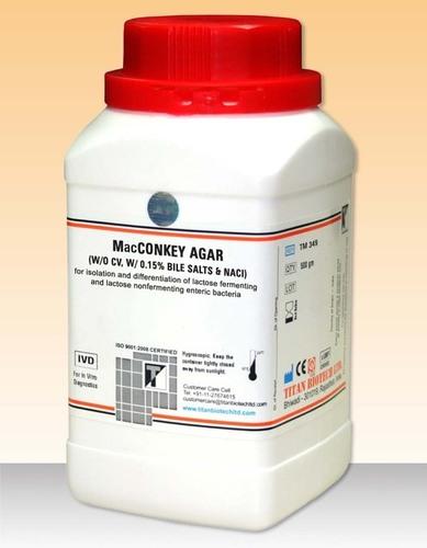MacCONKEY AGAR (W/O CV, W/ 0.15% BILE SALTS & NaCI)