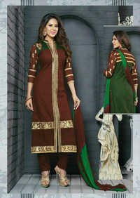 Indian Salwar Kameez Brown Cotton Salwar Kameez