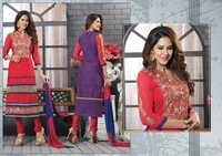 Designer Red Salwar Kameez Casual Summer Suit