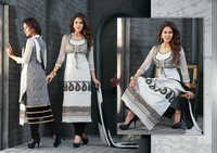 Ethnic Black and White Salwar kameez semi stitched salwar kameez 8310