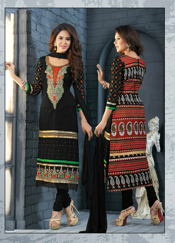 Elegant Black Cotton salwar kameez ladies latest summer salwar kameez 8312