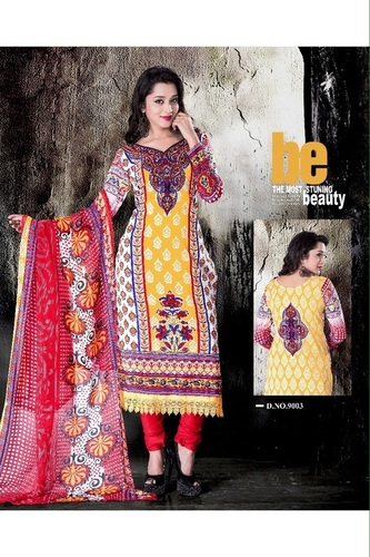 Beautiful Cotton Multicolor  salwar kameez summer salwar kameez 9003