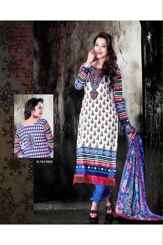 Wonderful Unstitched salwar kameez Multicolor Casual suit 9005