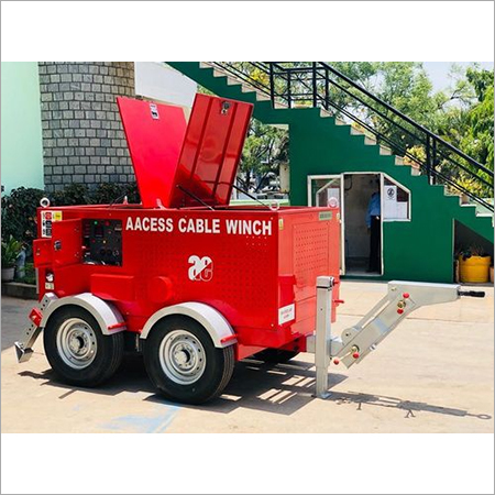 Cable Pulling Winch - Hydraulic Operated