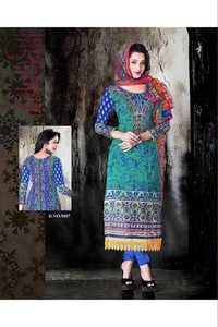 Latest Multicolor Printed Unstitched Salwar Kameez