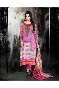 Indian Multicolor Cotton Salwar Kameez