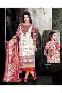 Unstitched Ethnic Multicolor Salwar Kameez