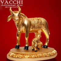Gold Plated Kamadhenu Cow