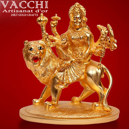 Gold Coated Durga