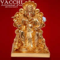 Gold Coated Ganesha Idol