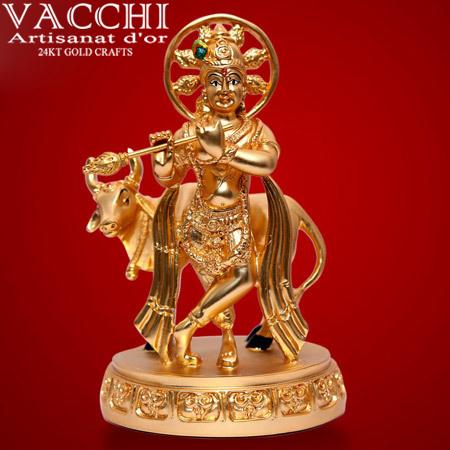 Gold Plated Krishna