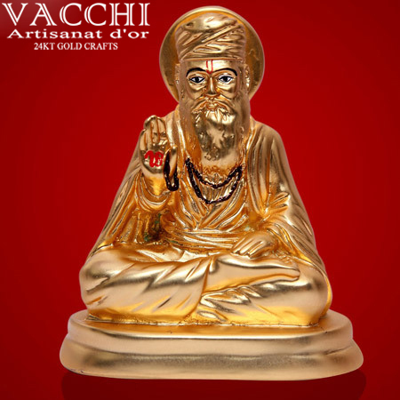 Gold Plated Nanak Statue