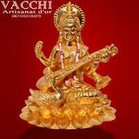 Gold Plated Saraswati
