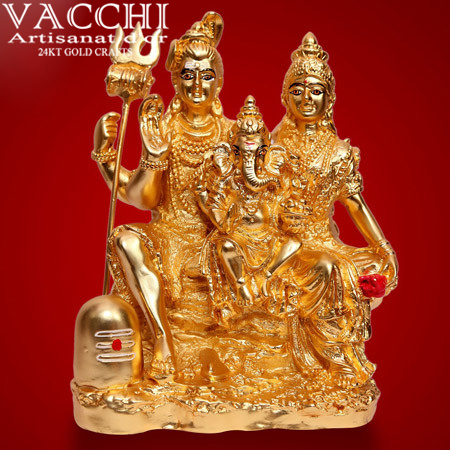 Gold Plated Shiv Parvati