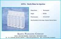 20 M.L.  Sterile Water for Injection