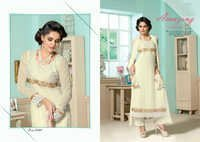 Latest Pakistani Off white Casual salwar kameez ladies salwar kameez 6602